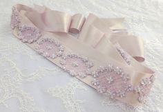Lavender Sash belt. Bridal / bridesmaid light by MissLaceWedding