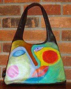 hand painted bag #fashion