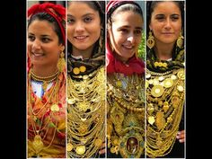 Portuguese girls in tradicional costumes from the north (Minho, Portugal)