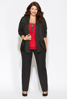 2d1eeab2bc Business Casual: Make your outfit pop with a bright, colorful top! Plus Size