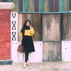 Clothes vintage style blouses Ideas for 2019 Casual Hijab Outfit, Hijab Dress, Ootd Hijab, Muslim Fashion, Modest Fashion, Fashion Edgy, Fashion 2018, Mode Outfits, Fashion Outfits