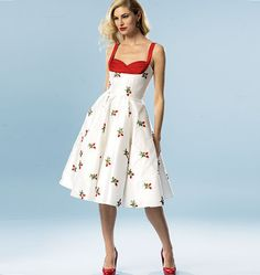 1950s Style Sewing Pattern: Gertie's Dress. Butterick 5882