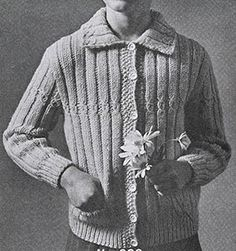 School Girl Cardigan knit pattern originally published in Childrens Sweaters, Doreen Knitting #111.