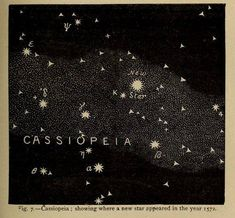 Cassiopeia, showing where a new star appeared in the year Flowers … Fig. Cassiopeia, showing where a new star appeared in the year Flowers of the sky. Cosmos, You Are My Moon, Retro Poster, Space And Astronomy, Astronomy Crafts, Astronomy Quotes, Astronomy Tattoo, Astronomy Pictures, Hubble Space