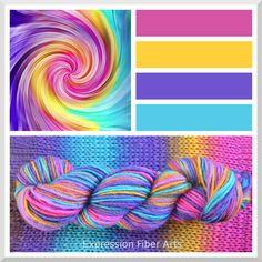 Rainbow Yarn Background.