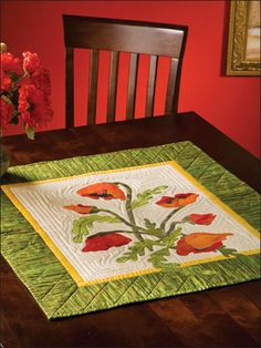~ Sew Some Poppies Table Topper, pattern $3.29