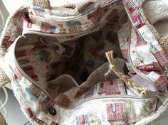 Plisada de lino antiguo bolso monedero bolso de totalizador