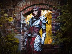 Two Amazing Cosplayers Bring Your Favorite Blackwood Characters to Life  - The Elder Scrolls Online Arrow Costume, Triss Merigold, Elder Scrolls Online, Black Oil, Red Paint, Upper Body, The Rock, Real Leather, Making Out