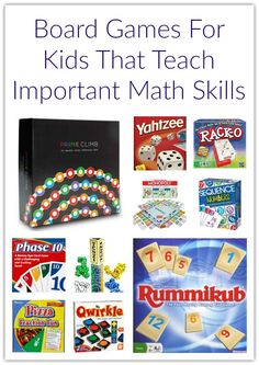 Board Games For Kids That Teach Important Math Skills - Discover Explore Learn Educational Board Games, Math Board Games, Board Games For Kids, Kids Board, Kid Games, Games For Little Kids, Online Games For Kids, Math For Kids, Kids Fun