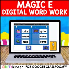 Magic E Digital Work Work Google Classroom™ Google Slides™ VERSION: PDF with Links To Copy Google Slides from my drive to yours.  ••••••••••••••••••••••••••••••••••••••••••••••••••••••••••••••••••••••••••••••••••••••  This is a digital resource for Google Classroom™ and Google Slides™.  Included in this download is:  This is 4 sets of Magic Digital Work Work activities for your […] Magic E Words, Teaching Calendar, Digital Word, Cvce Words, Work Activities, Writing Words, Google Classroom, Kindergarten Activities, Word Work