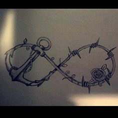barb wire infinity tattoo - Google Search