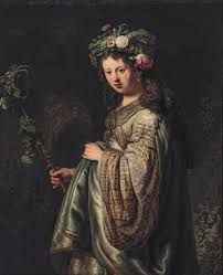 Rembrandt Van Rijn Saskia as Flora, , The Hermitage, St. Read more about the symbolism and interpretation of Saskia as Flora by Rembrandt Van Rijn.
