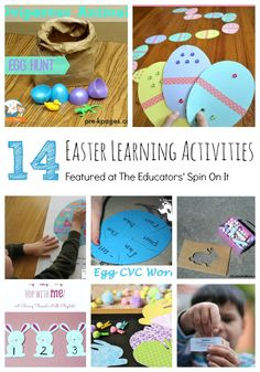 14 Easter Learning Activities for Kids. Eggs, Bunnies, Chicks and more make learning fun this Easter.