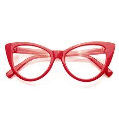 7211efa9270 Super Cat Eye Glasses Vintage Inspired Fashion Mod Clear Lens Eyewear