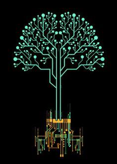 Tree of information by Noel delMar | metal posters - Displate