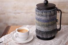 french press coffee cozy.