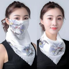 Upgrade your look this spring with this unique and fashionable style scarf and mask all in one. Made with high quality chiffon material. Mouth Mask Fashion, Fashion Face Mask, Diy Mask, Diy Face Mask, Face Masks, Diy Scarf, Full Face Mask, Chiffon Scarf, Mask Design