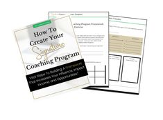 How To Create A Signature Coaching Program [THAT SELLS] Create A Signature, Multiple Streams Of Income, Program Template, Programming, Coaching, Create Yourself, Student, Templates, Training