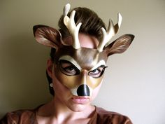 Buck Leather Mask Adult or Child Sizes Deer His by LovelyLiddy