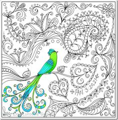 This would be a gorgeous pillow! White linen, black thread and the bird in greens and aqua colors.....