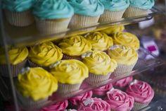 Yellow Cupcakes.