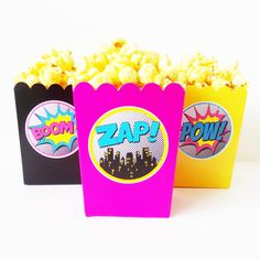 Girl Superhero Mini Popcorn Snack Boxes