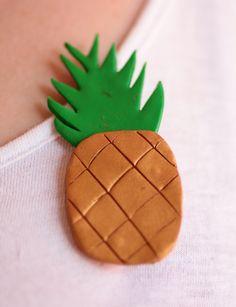 Pineapple brooch. £2.
