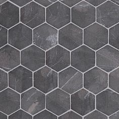Marmorimosaiikki Qualitystone Hexagon Gray verkolla 60 x 60 mm