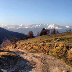 Sunset on The Ligurian Alps! On the way back from Mount Guardiabella!  Trekking - Liguria - Riviera Dei Fiori