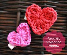 Valentine's Day Crochet Heart - The Stitchin Mommy