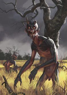 Morbid Fantasy • Ghoul - horror concept by Alexander Shatohin