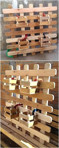 Are you a beginner in term of wood crafting and searching for an easy styling of the old wood presen Pallet Wall Shelves, Diy Pallet Wall, Diy Pallet Sofa, Wooden Pallet Projects, Wood Pallet Furniture, Diy Projects, Farmhouse Furniture, Garden Projects, Recycled Pallets