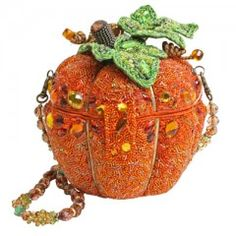 """After Midnight"" Mary Frances pumpkin/halloween handbag."