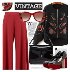"""""""Vintage"""" by cilita-d ❤ liked on Polyvore featuring Boohoo, Marc Jacobs, Miu Miu, Sara Attali, Thierry Lasry, NYX and vintage"""