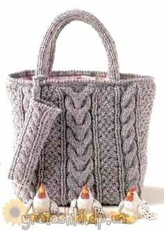 Knitted bag with braids