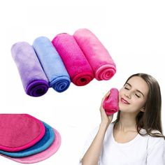 Microfiber Makeup Remover Reusable Makeup Eraser Towel Remover Wipes No Need Cleansing Oil PVC Box Original new hot Makeup Remover Towel, Makeup Eraser, Cleansing Oil, Simple Makeup, How To Remove, The Originals, Box, Snare Drum