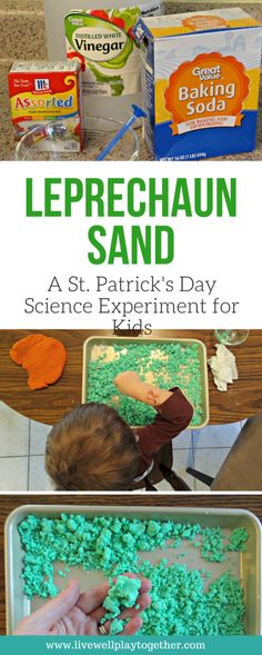 Leprechaun Sand: A St. Patrick's Day Science Experiment for Kids #scienceexperiments #preschoolactivities #preschool #homeschool #totschool #sciencelessons #stpatricksday #toddleractivities #scienceworksheets