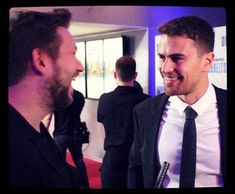 Theo James Source.  #NEW┇New picture of Theo at the Backstabbing for Beginners Premiere in Denmark, last week! 💫💫