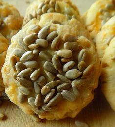 Savory Sunflower Seed Cookies Savory Sunflower Seed Cookies - Pastry & Beyond Sunflower Seed Recipes, Pumpkin Seed Recipes, Sunflower Seeds, Rice Krispie Cakes, Rice Krispies, Seed Cookies, Savoury Baking, Snack Recipes, Party