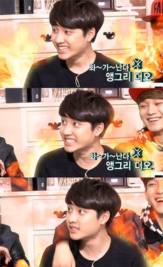 [First Box] The cutest reaction from D.O after Baekhyun mimicked his way of talking. #Kyungsoo #EXO
