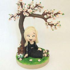 Topo de Bolo Árvore Sakura