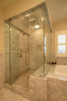 Adorable Master Bathroom Shower Remodel Ideas - Page 17 of 41 House Bathroom, Master Bath Remodel, Bathroom Remodel Shower, Remodel, Bathrooms Remodel, House, Home Remodeling, Bathroom Design, Bathroom Remodel Master