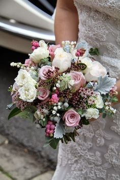 Flower Design Events: Autumnal Pinks for Victoria & Sam's Glorious Wedding Day at St Anne's Parish Church & The Grand Hotel.