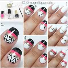 ~slight aztec nail art tutorial~
