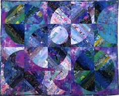 Cycloid II Art Quilt by Louisa L. Smith - Quilt Escapes