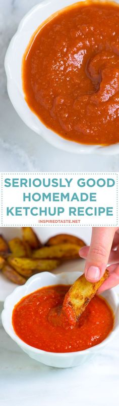Homemade ketchup is a must make. It's so simple, flavorful and easy to spice up or change up based on what you love. Recipe on inspiredtaste.net | @inspiredtaste
