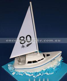 Sailboat cake - 80th on sail