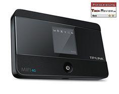 TP-Link M7350 mobiler 4G/LTE MiFi Dualband-WLAN-Router (LTE Cat.4 150Mbit/s, 2550mAh interner Akku, OLED-Display, SIM-Kartensteckplatz, microSD-Kartenslot)
