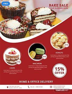 Bake Sale Sign, Bake Sale Flyer, Food Graphic Design, Menu Design, Design Ideas, Design Design, Logo Design, Booklet Design, Design Layouts