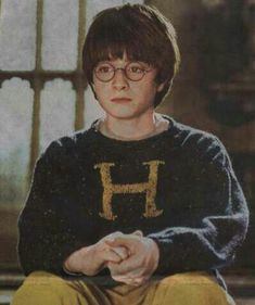 Harry Potter / Daniel Radcliffe in Harry Potter and the Philosopher's Stone Harry James Potter, Harry Potter Cast, Harry Potter Characters, Harry Potter World, Weasley Sweater, Harry Potter Sweater, Harry Potter Cosplay, Daniel Radcliffe, Hermione Granger
